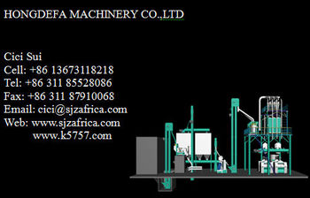 Corn and maize milling machine