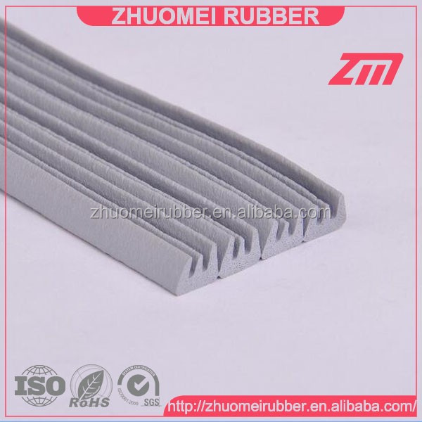 Self adhesive backed EPDM foam rubber sealing strip