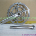 titanium chain ring and crank set, titanium crank set and spider, Custom titanium bicycle crank set