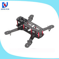 China OEM/ODM cheapest 250mm Carbon Fibre Fiber Mini Quadcopter Frame Kit Red Not FPV250 QAV250