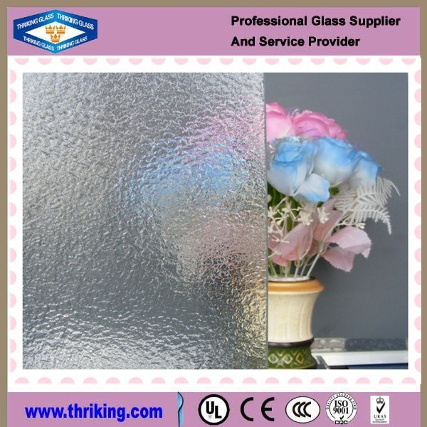 Thriking glass decorative patterned figured glass with CE certificates
