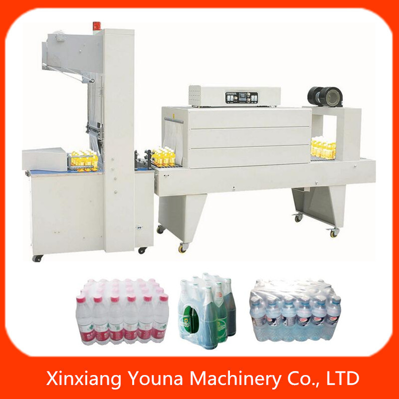 semi auto sleeve wrapper PE film beer bottle shrink wrapping machine
