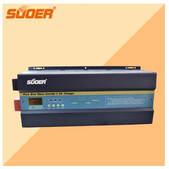 Suoer High Frequency 3KVA 24vdc to 230vac Power Invertor 2400W Hybrid Solar Inverter with 30A MPPT controller