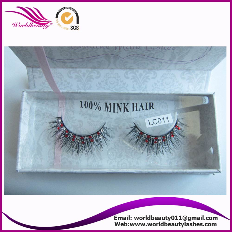 New package mink fur strip eyelash