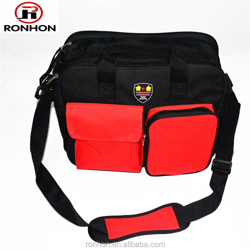 Functional Electrician Tool Bag with Tote and Shoulder strip