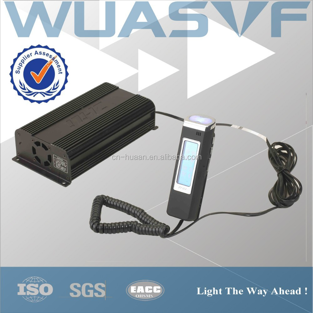 100w police siren car alarm with visible light control