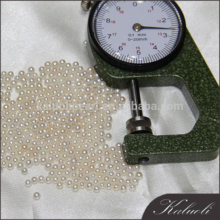 In bulk sale no hole freshwater pearl size 1.5 in zhuji pearl market