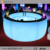Modern Nightclub Bar use Portable Illuminated Round LED Bar Counter with Remote Control