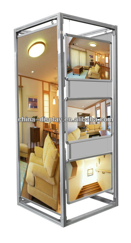High quality aluminum Display Stand for hotel showroom