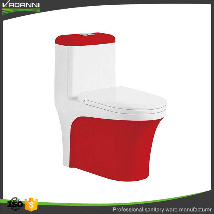 Modern red and white bathroom toilet bowl from China supplier