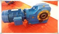 K series helical bevel foot mounted reduction gearboxes motor unit