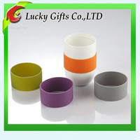 Heat proof silicone cup sleeve/ reusable coffee cup sleeves /cupping set