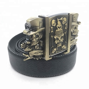 custom 3D skull  belt buckles for men fashion Rock and roll style
