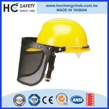 yellow hight quality mining safety helmet lamp face shield