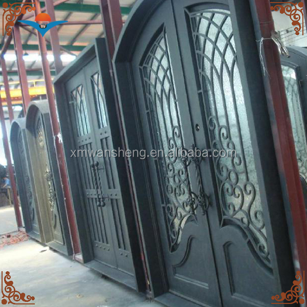 Villa, park, house, outdoor, garden wrought iron front doors/glass saloon doors