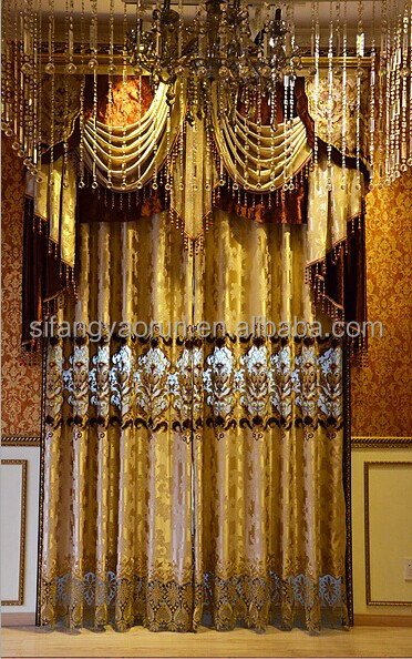 2014new luxury different styles of led illuminated curtains