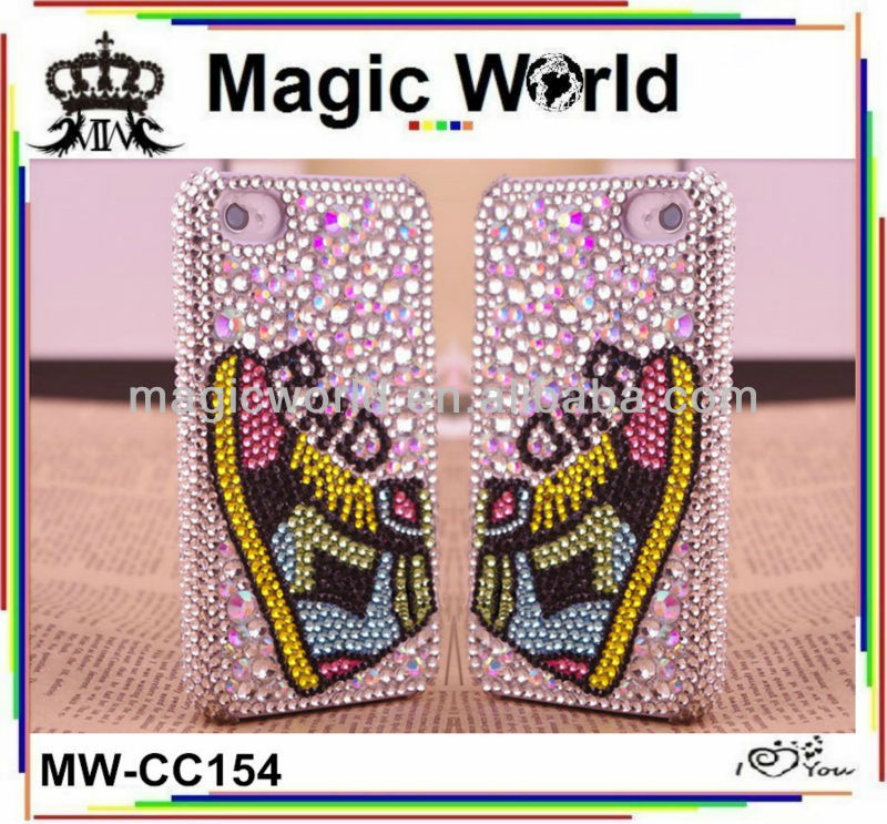 Sports shoes shaped custom bling phone case ,factory price mobile phone case