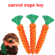Hot Carrot Pets Chew Toys Braided Bone Knotted Cotton Handmade Durable Chewing Rope Stuffed Tug Toy For Dogs & Puppie