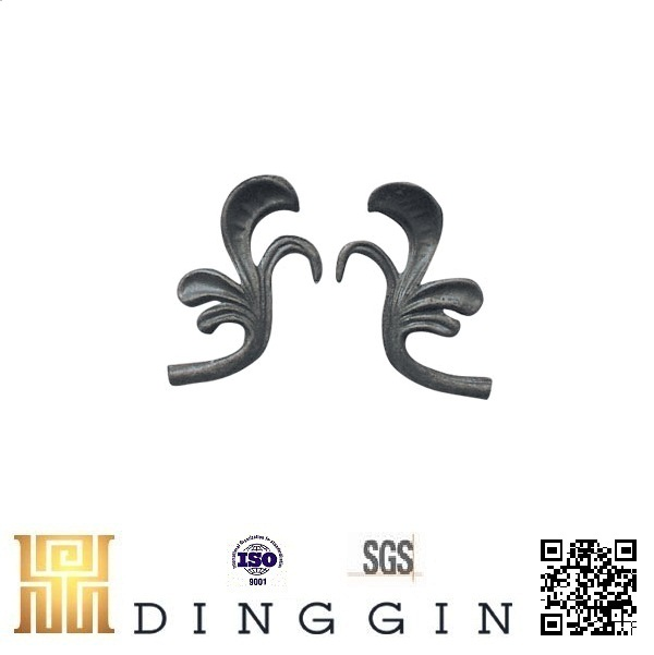 high quality and beautiful ornamel casting steel small leaf