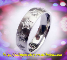 Wholesale fashion style stainless steel rings design with gems
