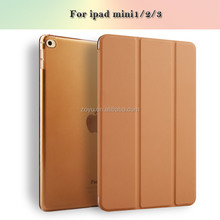 ultrathin pu leather stand case for ipad mini 1 2 3 magnet adsorption