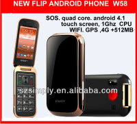 new 2014 flip brand new cell phones for cheap 4.1 GPS. WIFI W58