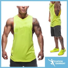 neon yellow gym athletic tank top wholesale sleeveless tank
