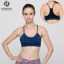 Good Sale Hot Sex Lady High Impact Blue Support Tight Plus Size Sport Running Bra