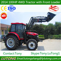 2014 New Cheap 100HP 4WD Wheel Farm Tractor With Front Loader/CE&ISO