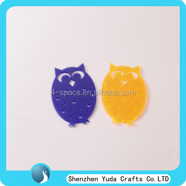 laser cutting night owl acrylic decoration or giftware