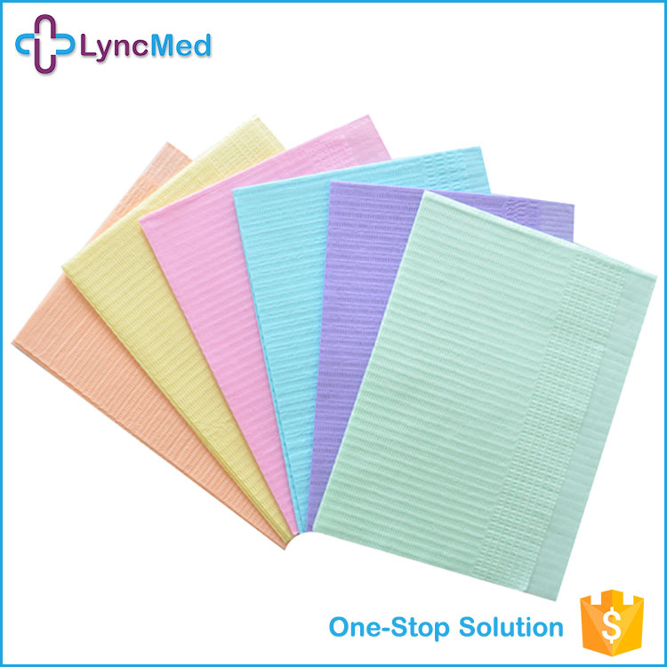 Wholesale Disposable medical Tissue PE coated Dental Bib