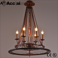 Creative lighting fixtures bicycle chain hoists loft Hotels wheel chandeliers