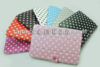 Polka Dot Leather Cover Case for iPad mini with buckle