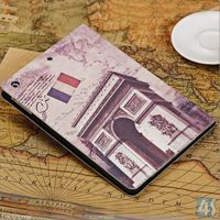 Retro style building block building stand leather case for ipad air,P-IPD5CASE067