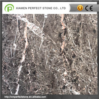 Hang grey marble with red veins floor slab with own quarry
