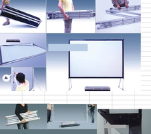 Fast fold/quick fold Screen Fast folding projector screen,outdoor projection screen