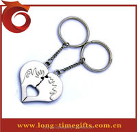 zinc alloy key chain Type and Metal Material metal sweet couple keychain