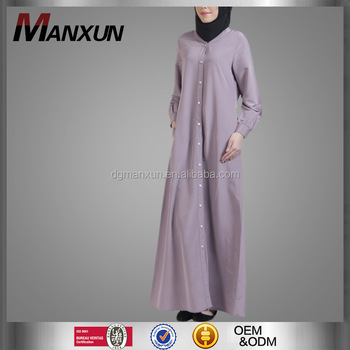 New Design Loose Simple Abaya In Pakistan Nice Muslim Thobe Cheap Islamic Clothing