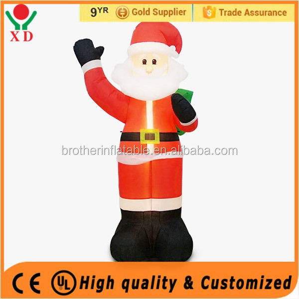 Factory price christmas Custom Outdoor Inflatable Christmas Father