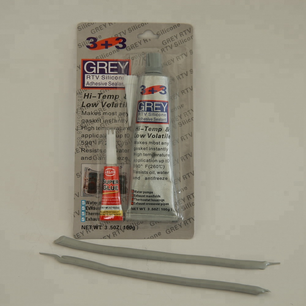 Auto Parts Repair with Super Glue RTV silicone Gasket Maker