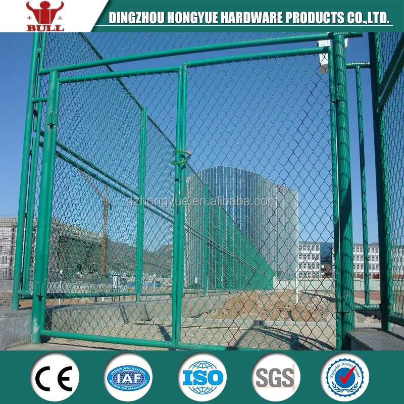 galvanized and pvc coated chain link fence panels