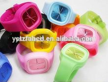 New design candy color most popular silicone rubber wristband watch
