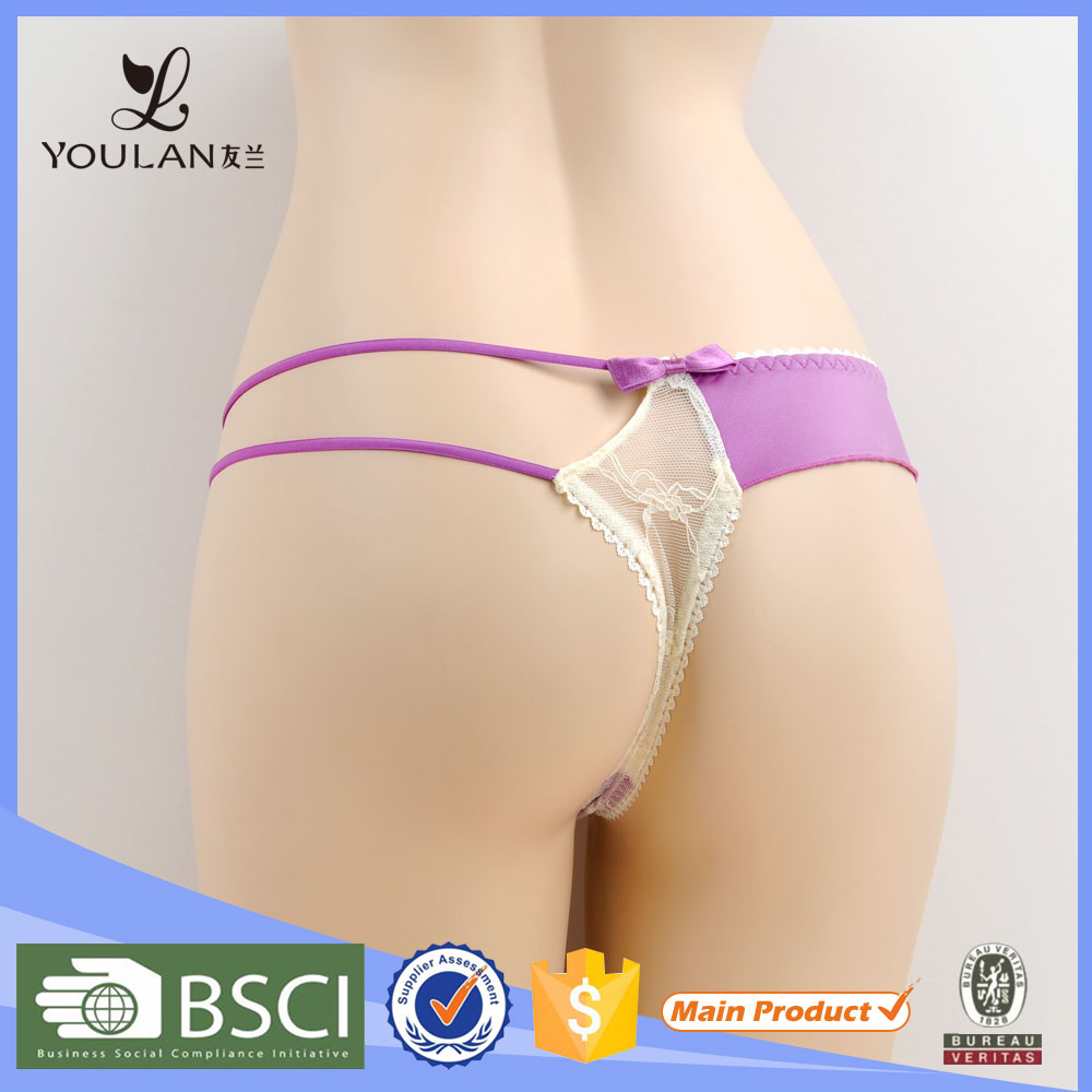 Customized Comfortable Cute Flower Lace G-String