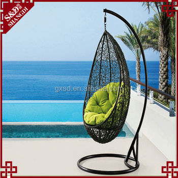 S&D morden fashion outdoor swing teardrop-shaped swing chair