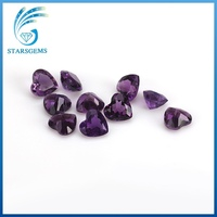 Wholesale price heart shape 3*3mm natural amethyst