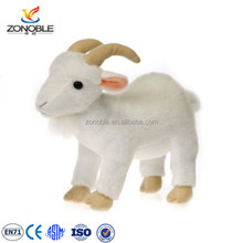 Factory customed white cuddly soft plush goat stuffed toy