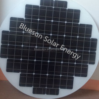 Bluesun high quality best price 90W polycrystalline round solar panel