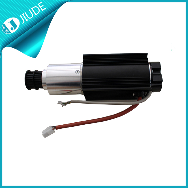Telescopic middle opening door direct drive dc motor