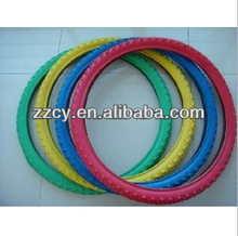 durable two color bike tyres/ solid rubber bicycle tire with cheap price