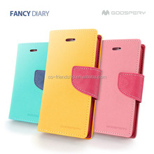 mercury goospery fancy diary leather case,pouch wallet case for samsung galaxy note2 n7100